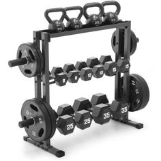 The Marcy Combo Weights Storage Rack is a Heavy Duty weight storage rack that co… Home Gym Garage, Diy Home Gym, Gym Room At Home, Home Gym Decor, Basement Gym, Workout Room Home, Workout Rooms, Home Gym Equipment, No Equipment Workout