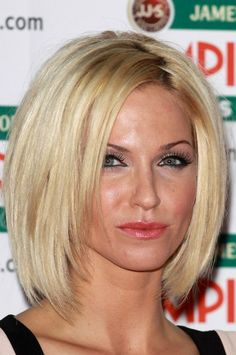 Might try this short choppy-layered hairstyle. Sarah Harding