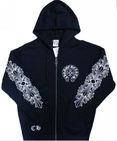 Chrome Hearts Zip Up Hoodie with great design...