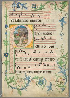 Catholic Church. Graduale Fratrum Minorum secundum consuetudinem romane curie : manuscript, [ca. 1450-ca. 1500]. MS Typ 704.1 (13) Houghton Library, Harvard University