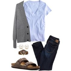 Wearing My Birks When There's Snow On the Ground by magdelena4 on Polyvore featuring polyvore, fashion, style, J.Crew, Alexander Wang, American Eagle Outfitters, Birkenstock, Michael Kors and Tiffany & Co.
