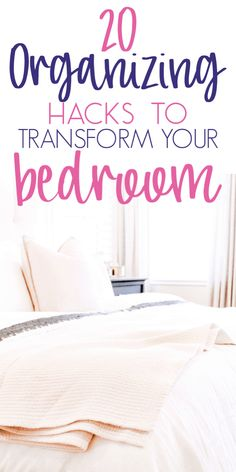 20 Amazing Organization Hacks That Will Transform Your Bedroom - Organization Obsesssed Small Bedroom Organization, Bedroom Storage, Bedroom Decor, Bedroom Hacks, Office Storage, Organisation Hacks, Declutter Your Home, Organizing Your Home, Organising