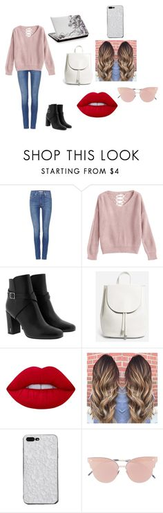 """""""First date"""" by paris-is-for-me ❤ liked on Polyvore featuring Levi's, Yves Saint Laurent, Everlane, Lime Crime and So.Ya"""