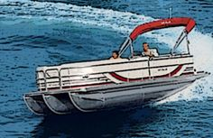 Pontoon boats, because of their high profile and vulnerability to wind ...