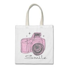 Camera Smile Bag  Click on photo to purchase. Check out all current coupon offers and save! http://www.zazzle.com/coupons?rf=238785193994622463&tc=pin