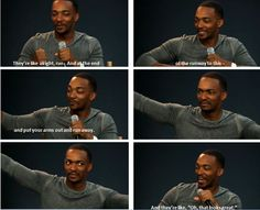 Anthony Mackie. He is so funny.