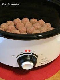 Bloc de recetas: Albóndigas en Slow Cooker