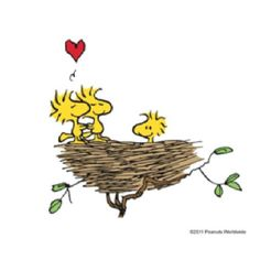 love is in the air ...........with the peanuts gang