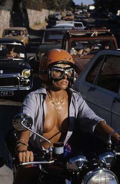 bikes-n-girls: Biker girl Lady Biker, Biker Girl, Saint Tropez, Honda Cb, Up Auto, Chicks On Bikes, Hot Bikes, N Girls, Biker Chick
