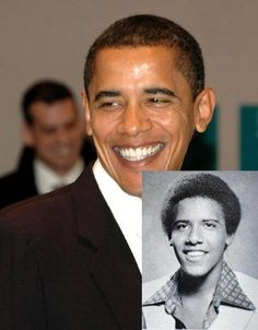 President Obama - Then & now! Yep I would have had my usual high school unrequited crush on this guy
