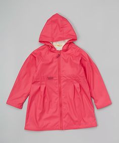 Loving this Fuchsia Fleece-Lined Raincoat - Infant & Kids on #zulily! #zulilyfinds