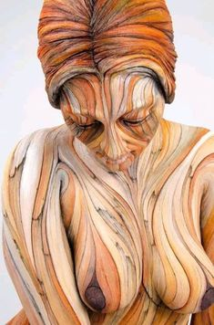 Tumblr, Woman Painting, Wood Carving, Body Art, Black Women, Art Pieces, David, Arts And Crafts, Statue