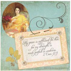 2 Cor. 12:9 ~ Little Birdie Blessings