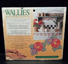Wallies Wallpaper cutouts Mary Engelbreit Cottage Rose 25 Pre-pasted NIP 12908 #Wallies #Cottage
