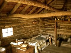 """The inside of """"the little house on the prairie"""" outside of Independence, Kansas"""