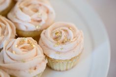 gold pink cupcakes - Google Search