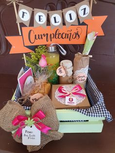 Birthday Hampers, Birthday Gifts, Diy Crafts For Gifts, Crafts For Kids, Bouquet Box, Weekend Crafts, Diy Gift Box, Easter Celebration, Gift Hampers