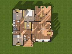 1.szélfogó2,24 m2 2.wc1,20 m2 3.nappali+étkező+konyha33,28 m2 4.kamra2,02 m2 5.közlekedő9,58 m2 6.szoba9,53 m2 7.mosókonyha2,33 m2 8.fürdő6,38 m2 9.szoba8,21 m2 10.gardrób4,81 m2 11.háló12,39 m2