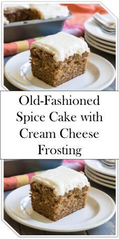 Old-Fashioned Spice Cake wіth Cream Cheese Frosting >> >> >> ? Old-Fashioned Spice Cake wіth Cream Cheese Frosting >> >> >> Pie Cake, No Bake Cake, Mini Cakes, Cupcake Cakes, Cookie Cakes, Köstliche Desserts, Dessert Recipes, Snack Recipes, Snacks