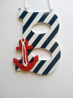 Hey, I found this really awesome Etsy listing at https://www.etsy.com/listing/185800465/nautical-letter-nautical-nursery-anchor