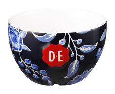 D.E Hylper latte kom groot - donker blauw, dark blue #coffee #bowl #HylperHeritage #DouweEgberts