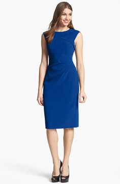 Adrianna Papell Pleated Crepe Dress available at #Nordstrom Not this color but like the style