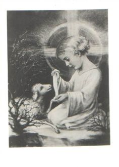 Jesus healing the wounded lamb Catholic Art, Religious Art, Holy Mary, Spiritual Pictures, Vintage Holy Cards, Pictures Of Christ, Jesus Heals, The Good Shepherd, Mary And Jesus