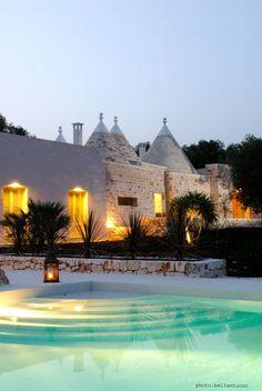 Villa Fiori di Campagna from pool evening