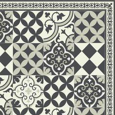 PVC vinyl mat linoleum rug Free Shipping Mix Tiles Pattern 312  - Gray by videcor on Etsy