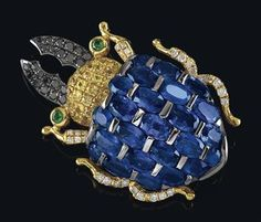A sapphire brooch – Stag beetle, #fk #fashionkiosk #jewellery
