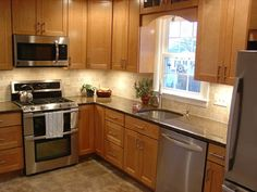 L-Shaped Kitchen For Small Space - Architecture Home Design