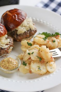 Brat Burger Sliders & German Potato Salad via @April Cochran-Smith