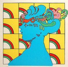 "Peter Max ""Lady on Pattern"" Make OFFER DSSTD | eBay"