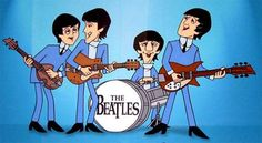 The Beatles cartoon. Even though the voices were not the real Beatles. The powers that be didn't want to use The Beatles actual voices because they were afraid the American audience wouldn't understand the British accents. Ringo Starr, George Harrison, Beatles Party, The Beatles 1, Beatles Photos, Beatles Lyrics, Beatles Guitar, Beatles Band, John Lennon