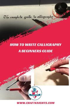 How to Write Calligraphy? A Complete Beginners Guide to Calligraphy - craftknights How To Do Calligraphy, Calligraphy Alphabet, Caligraphy, Dip Pen, Knitting For Beginners, Learn To Draw, Knitting Projects, Hand Lettering, Markers