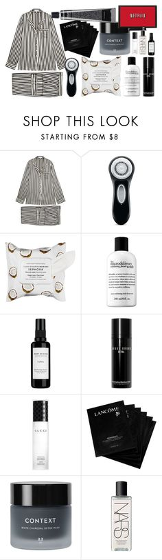 """""""Lazy Day"""" by nothing-better-than-a-riddle ❤ liked on Polyvore featuring Olivia von Halle, Clarisonic, Sephora Collection, Root Science, Bobbi Brown Cosmetics, Gucci, Lancôme, Context and NARS Cosmetics"""