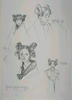 Padme revenge of the Sith hairstyle concepts