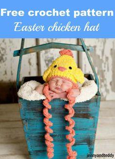 free crochet pattern easter chicken hat by jennyandteddy
