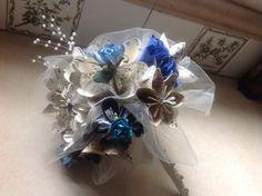 Bouquet de mariage Kusudama comprend 8 fleurs en papier Origami