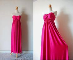 Elegant Lotus Pink Evening Dress by pinksandcloset on Etsy, $55.00