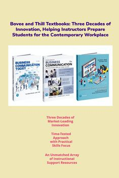 Discover how Bovee and Thill can prepare your students better. Career Success, Textbook, Workplace, Innovation, Communication, Students, Teaching, Marketing, Gallery