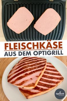 Grilling meat cheeses in the OptiGrill - Fleisch Rezepte
