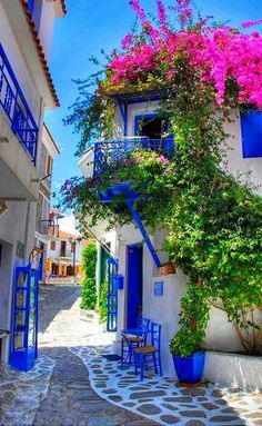 Skiathos Island, Greece - 20 Incredibly Gorgeous and Underrated Travel Destinations Places Around The World, The Places Youll Go, Places To See, Around The Worlds, Beautiful World, Beautiful Places, Beautiful Streets, Simply Beautiful, Amazing Places