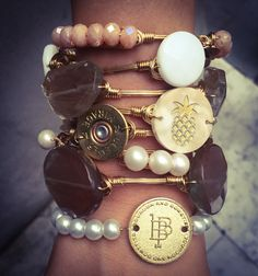 Gold themed Bourbon and Boweties bangles available online with FREE Shipping!