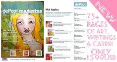 depepi, depepi magazine, depepi.com, mixed media art, cards, mixed media, decks, lenormand, tarot, crafts, kawaii, cute... only $5.99 !!!