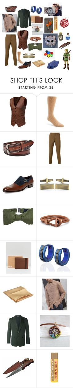 """Hunter Wildthorn: Formal"" by okamikun ❤ liked on Polyvore featuring Pantherella, FOSSIL, Prada, Mezlan, West Coast Jewelry, Ted Baker, ASOS, Brunello Cucinelli, John Lawrence Sullivan and Burt's Bees"