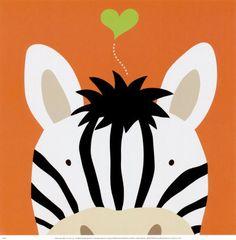 Peek-a-Boo XII, Zebra by Yuko Lau. Art print from Art.com.