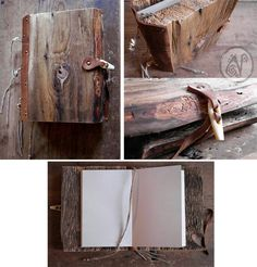 For some strange reason I want to make this wood covered notebook...