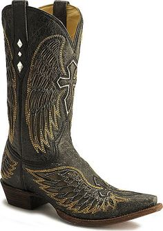 Wing and Cross cowboy boots for guys