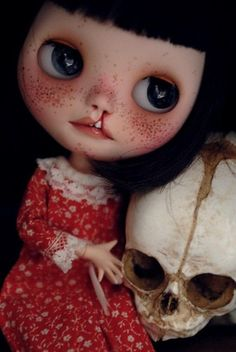 OOAK Unique Custom Blythe Art Doll Wendy Darling Cleft Lip FBL by Amber Carr | eBay